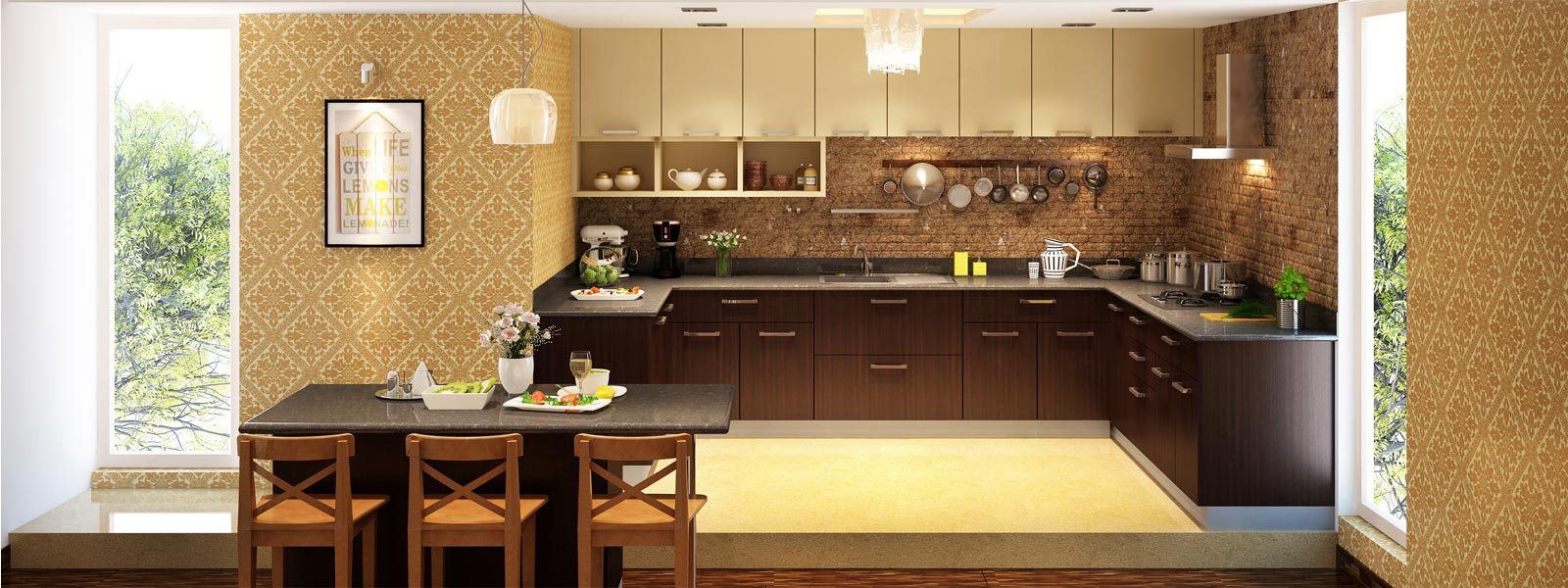 PreviousNextLakshi Home   wood interior   Furniture   Modular Kitchen  . Modular Kitchen Designs U Shaped. Home Design Ideas